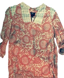 Angie Top Burnt Orange And Cream