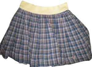 Hollister Plaid Mini Mini Skirt Multi-Color