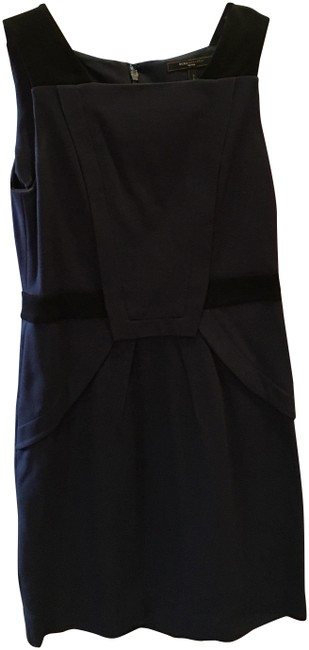 Preload https://img-static.tradesy.com/item/23255868/bcbgmaxazria-navy-black-bcbg-mid-length-workoffice-dress-size-petite-8-m-0-3-650-650.jpg