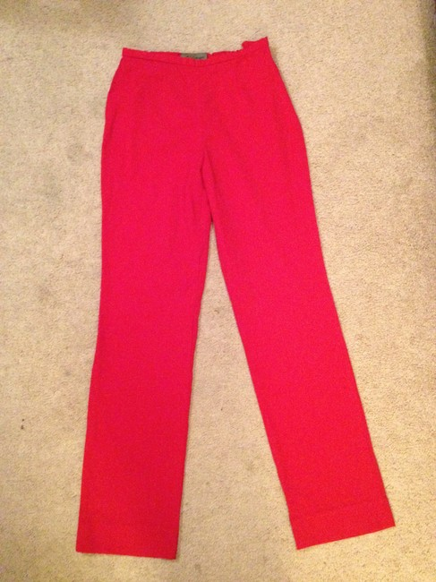 Les Copains Straight Pants Red