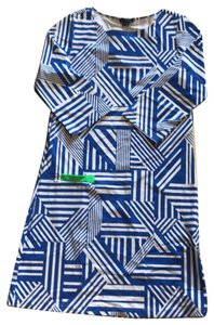 Melly M short dress Blue and White on Tradesy