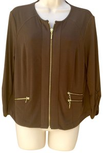 Chico's Button Down Shirt Brown