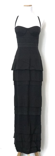 Item - Black/Navy Tiered Long Formal Dress Size 4 (S)