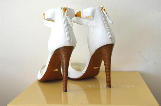 Sergio Rossi Made In Italy Formal Evening Gold white Sandals