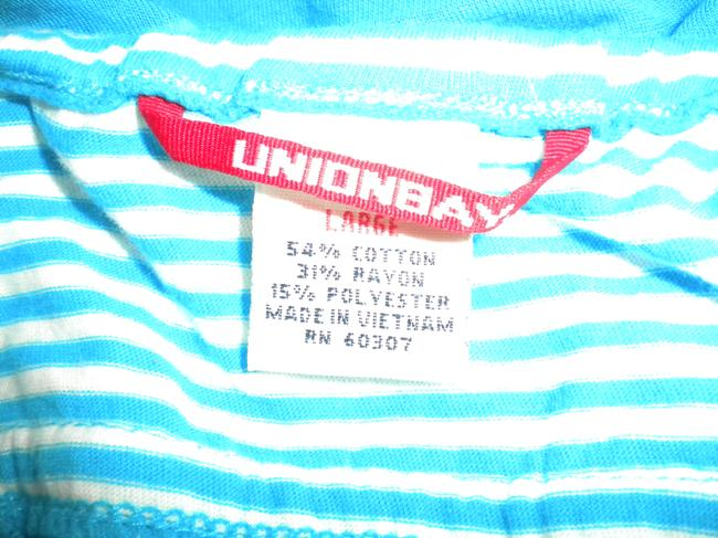 UNIONBAY 2 In 1 Halter Top Teal Blue/White