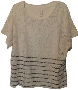Sundance Knit Xl Lace Tank Cotton Tunic