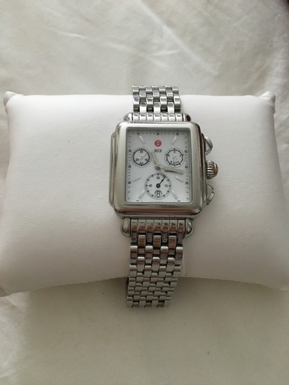 Michele Michele Deco Stainless Steel Chronograph Watch