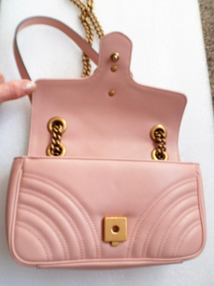 7d00e7f50a5 Gucci Marmont Gg Mini Matelasse Shoulder Light Pink Calfskin Leather ...