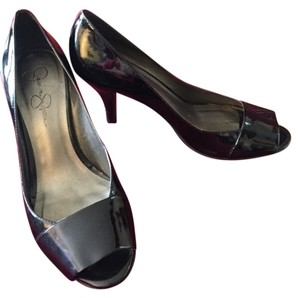 Jessica Simpson Professional Work Classy Black Patent Formal