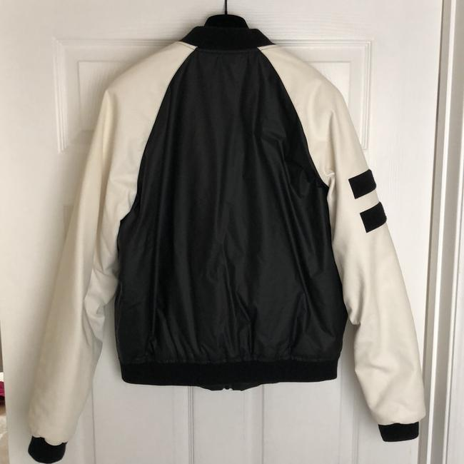 Love Moschino black and white Leather Jacket