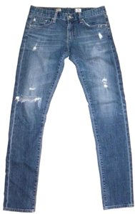 AG Adriano Goldschmied Distressed Destructed Skinny Jeans-Distressed