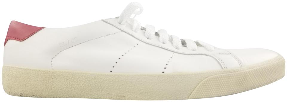 948b2d512f0 Saint Laurent White Sl/06 Court Leather Sneakers Size EU 36.5 ...