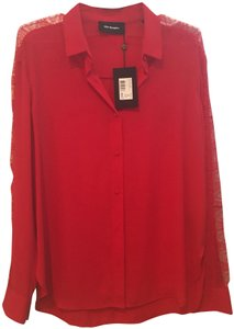 The Kooples Lace Top Red