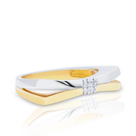 Bliss Two Tone Gold Diamond Ring 0.03cts (19175) Women's Wedding Band