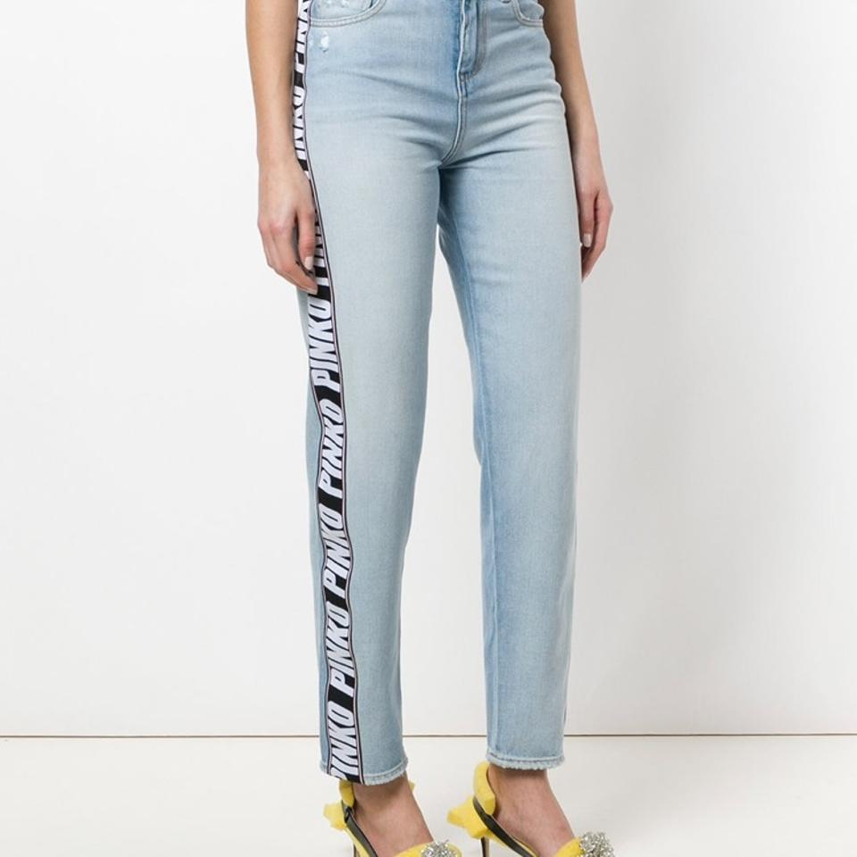 online store 581ba 8c316 Pinko High-rise with Logoed Band Boyfriend Cut Jeans Size 8 (M, 29, 30) 24%  off retail