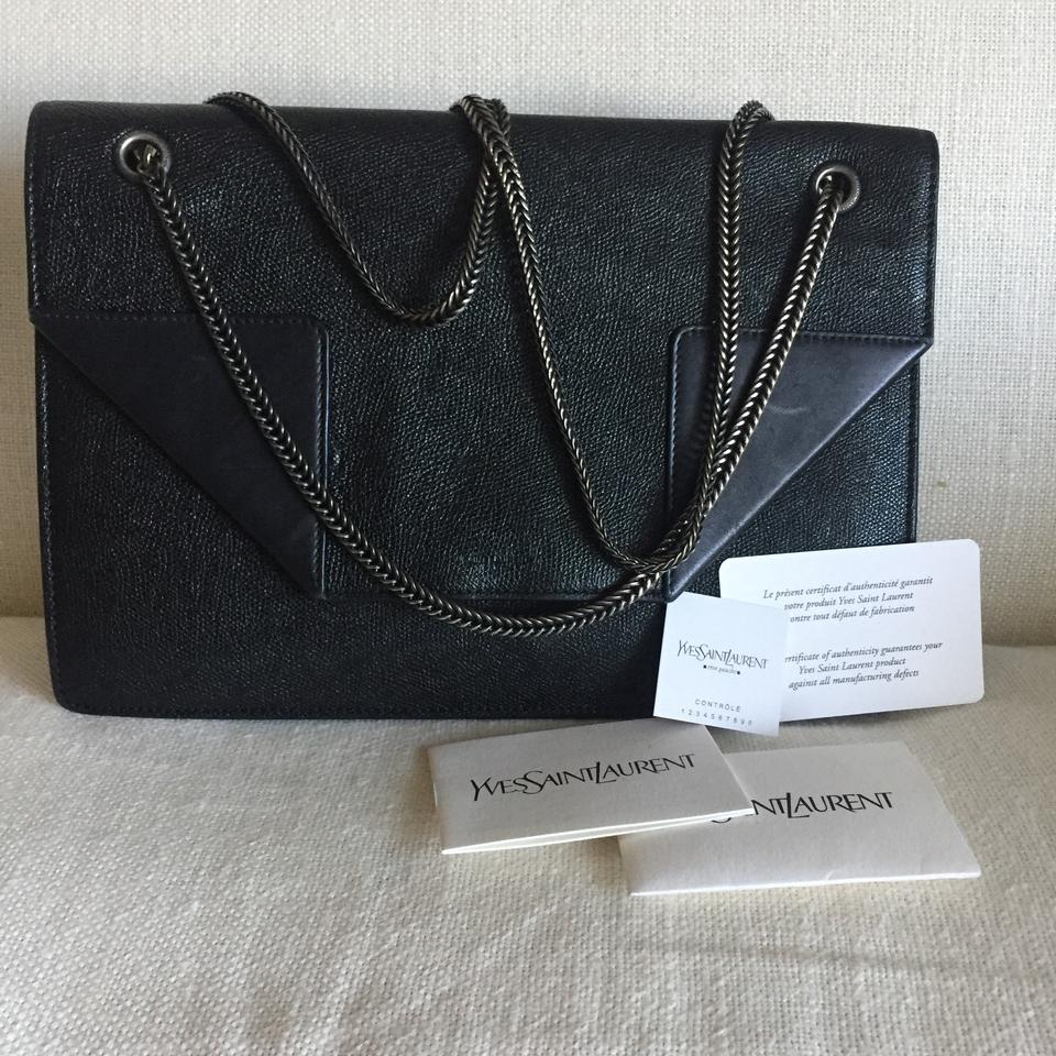 Saint Laurent Betty Medium Grained and Smooth Black Leather Shoulder Bag -  Tradesy 7cb7512ef2269
