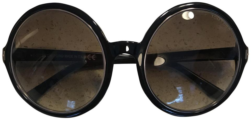 f073f08a7a17 Tom Ford Carrie Tf 268 01f Black   Gold Frame W  Brown Gradient W Brown Lenses  Sunglasses