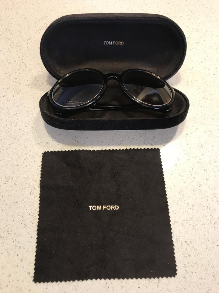 31d3a27583ec Tom Ford Carrie Tf 268 01f Black   Gold Frame W  Brown Gradient W ...