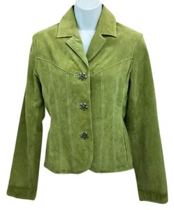 Wilsons Leather Chartreuse Leather Jacket
