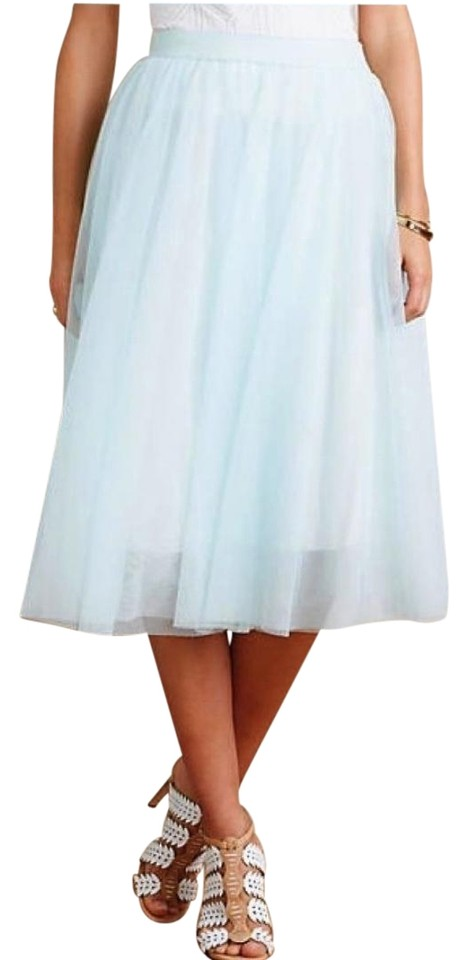 d46bc960fd19d Anthropologie Mint Blue L Tulle By Bailey44 Skirt Size 12 (L, 32, 33 ...