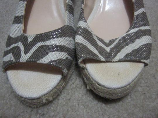 Chico's Espadrille Cream/Taupe Wedges