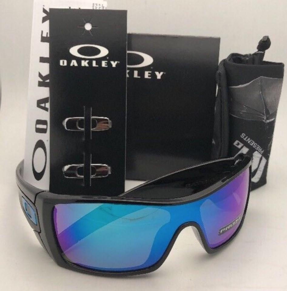 38f1a7a605 Oakley New OAKLEY Sunglasses BATWOLF OO9101-5827 Polishd Black+Prizm  Sapphire Image 11. 123456789101112