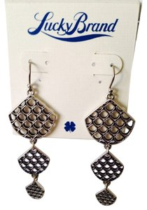 Lucky Brand NWOT Silver-Tone Bohemian Style Dangle Earrings
