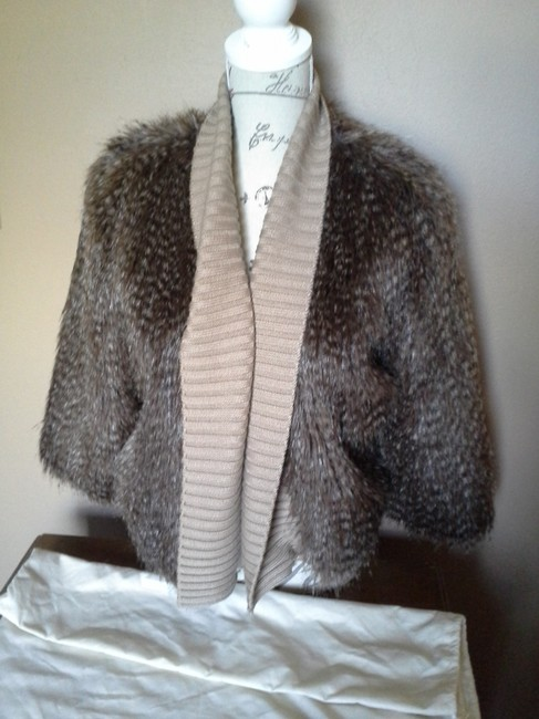 Calvin Klein Brown Faux Fur Jacket
