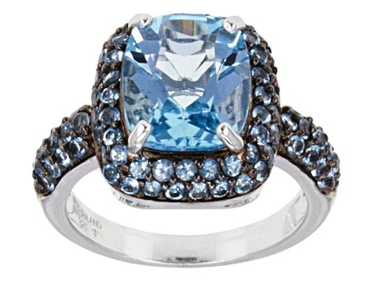 Preload https://img-static.tradesy.com/item/23258087/blue-435ct-cushion-topaz-and-114cttw-round-accents-ring-0-0-540-540.jpg