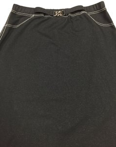 Requirements Skirt Black with white stitching