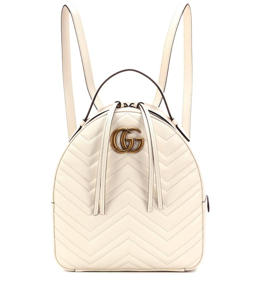 f7f7b2f40bd1 Gucci Marmont New Quilted White Leather Backpack - Tradesy