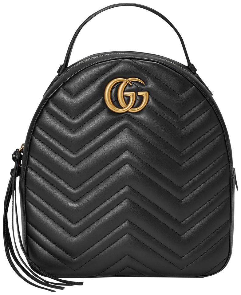 395c2bc4e840 Gucci Marmont New Quilted Pink Black Leather Backpack - Tradesy