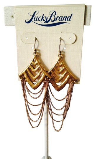 Lucky Brand NWT Gold Chandelier Multi-Strand Earrings