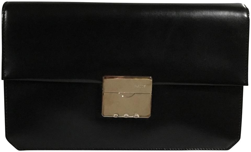 6511e236b2 Bally Men s Clutch Black Smooth Leather Wristlet - Tradesy