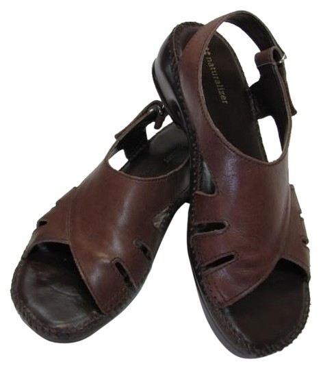 Preload https://item3.tradesy.com/images/naturalizer-brown-leather-m-good-condition-sandals-size-us-75-regular-m-b-2325857-0-0.jpg?width=440&height=440