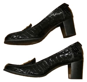 Bandolino Patent Leather Leather Loafers Black Flats