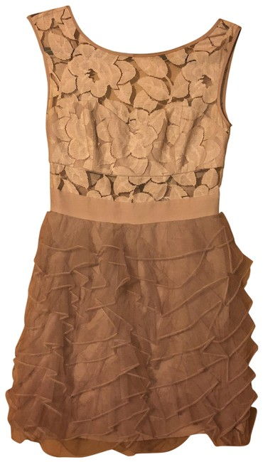 Item - Beige Vdn6p752 Short Cocktail Dress Size 0 (XS)