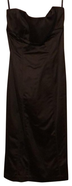 Item - Brown Silk Bodycon Mid-length Night Out Dress Size 0 (XS)