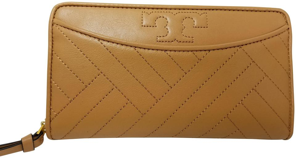 80f30f196 Tory Burch Aged Vacheta Alexa Zip Continental Leather Wallet Image 0 ...
