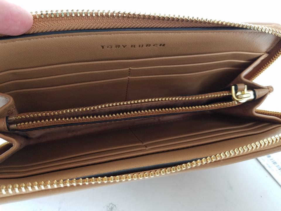 0a3e031a9 Tory Burch Aged Vacheta Alexa Zip Continental Leather Wallet Image 4. 12345