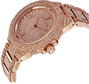 Michael Kors 100% NEW Michael Kors Womens Rose Gold-Tone Glitz Camille Watch MK5862
