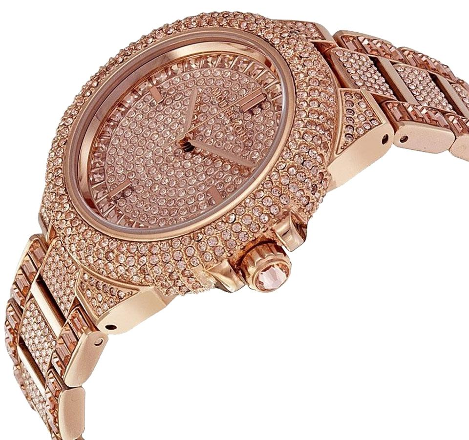 Michael Kors Rose Gold Box New In Gold Tone Glitz Camille Lady