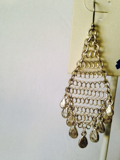 Lucky Brand NWT Silver Movement Chandelier Earrings