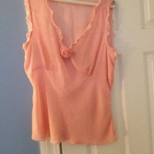 Ann Taylor LOFT Blouses Blouses Ruffle Top Peachy Orange