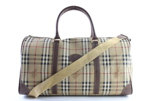 Burberry Boston Keepall Duffle Bandouliere Gym Nova Check Travel Bag