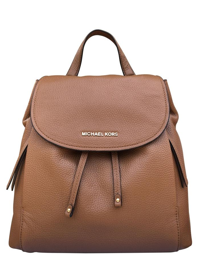 f85dc35a1c70 Michael Kors Riley Large Brown Luggage Leather Backpack - Tradesy