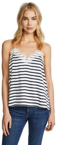 cami nyc Racer Back Lace Lace Trim Top Marina Stripe
