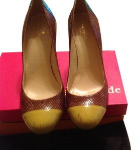 Kate Spade Camel/mustard/green Pumps
