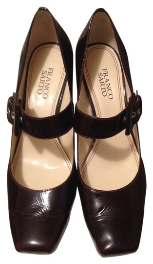 Franco Sarto Leather Mary Jane Wine Pumps