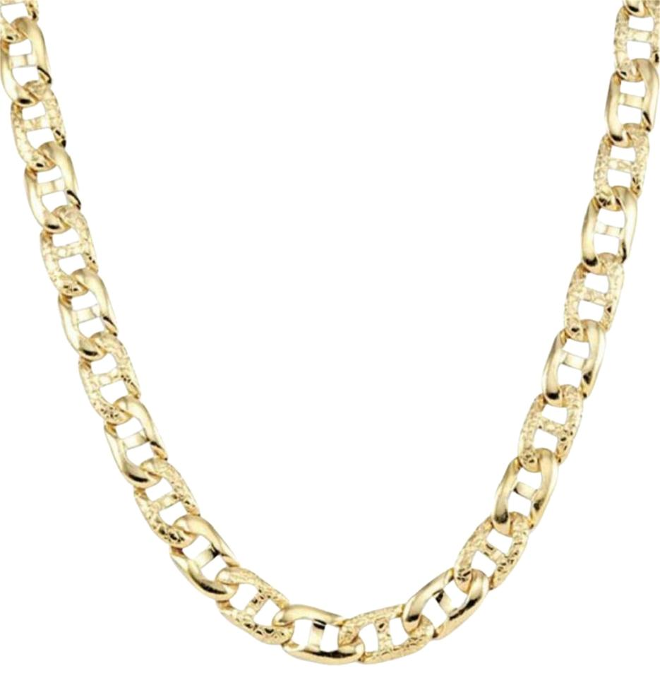 242a31329 14k Yellow Gold Filled Matte Finish Gucci Style Chain Necklace - Tradesy